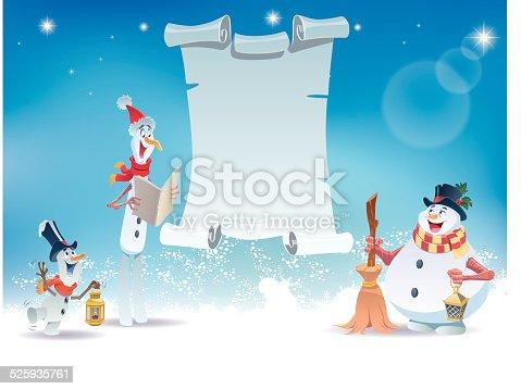 istock Snowmen Singing 525935761