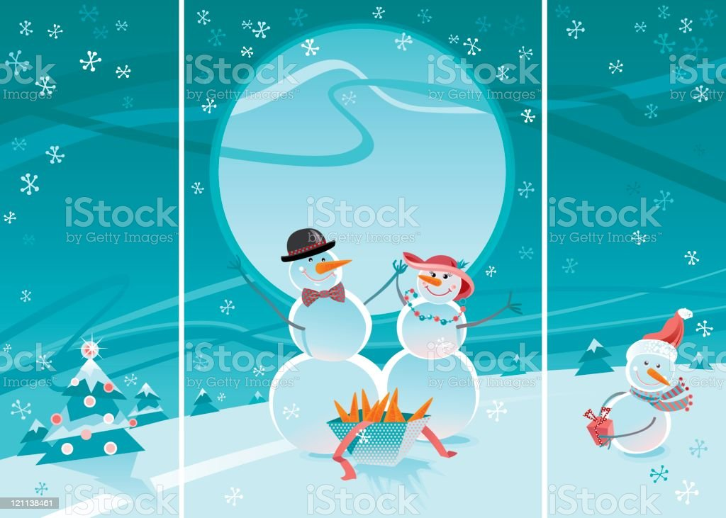 Snowmen royalty-free snowmen stock vector art & more images of backgrounds