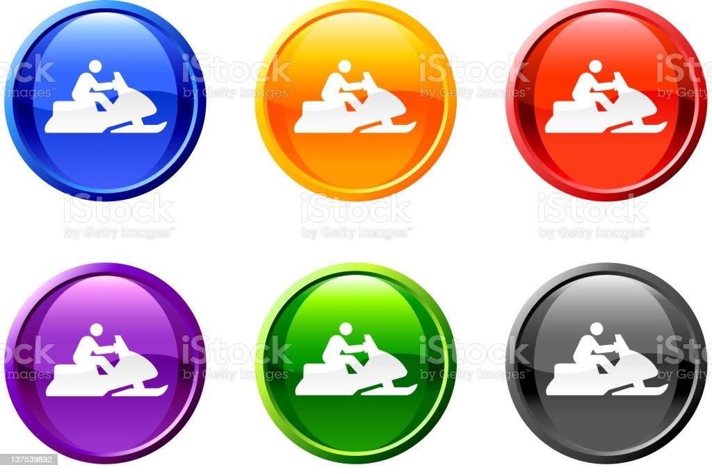 Snowmobile button royalty free vector art royalty-free stock vector art