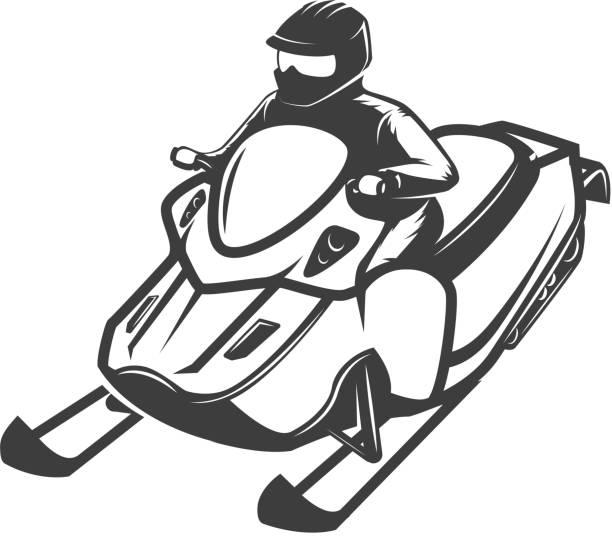 Best Snowmobiling Illustrations, Royalty-Free Vector ...