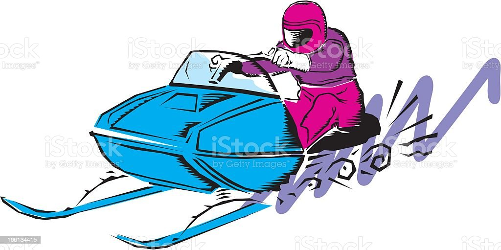 Snowmobile royalty-free stock vector art