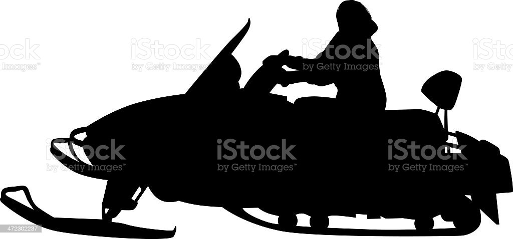 Snowmobiling royalty-free snowmobiling stock vector art & more images of activity