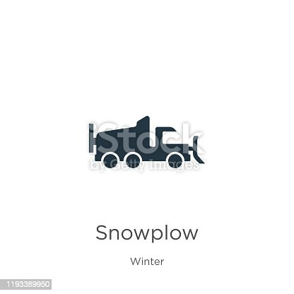 Snowplow icon vector. Trendy flat snowplow icon from winter collection isolated on white background. Vector illustration can be used for web and mobile graphic design, logo, eps10