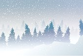 snowstorm at winter.vector