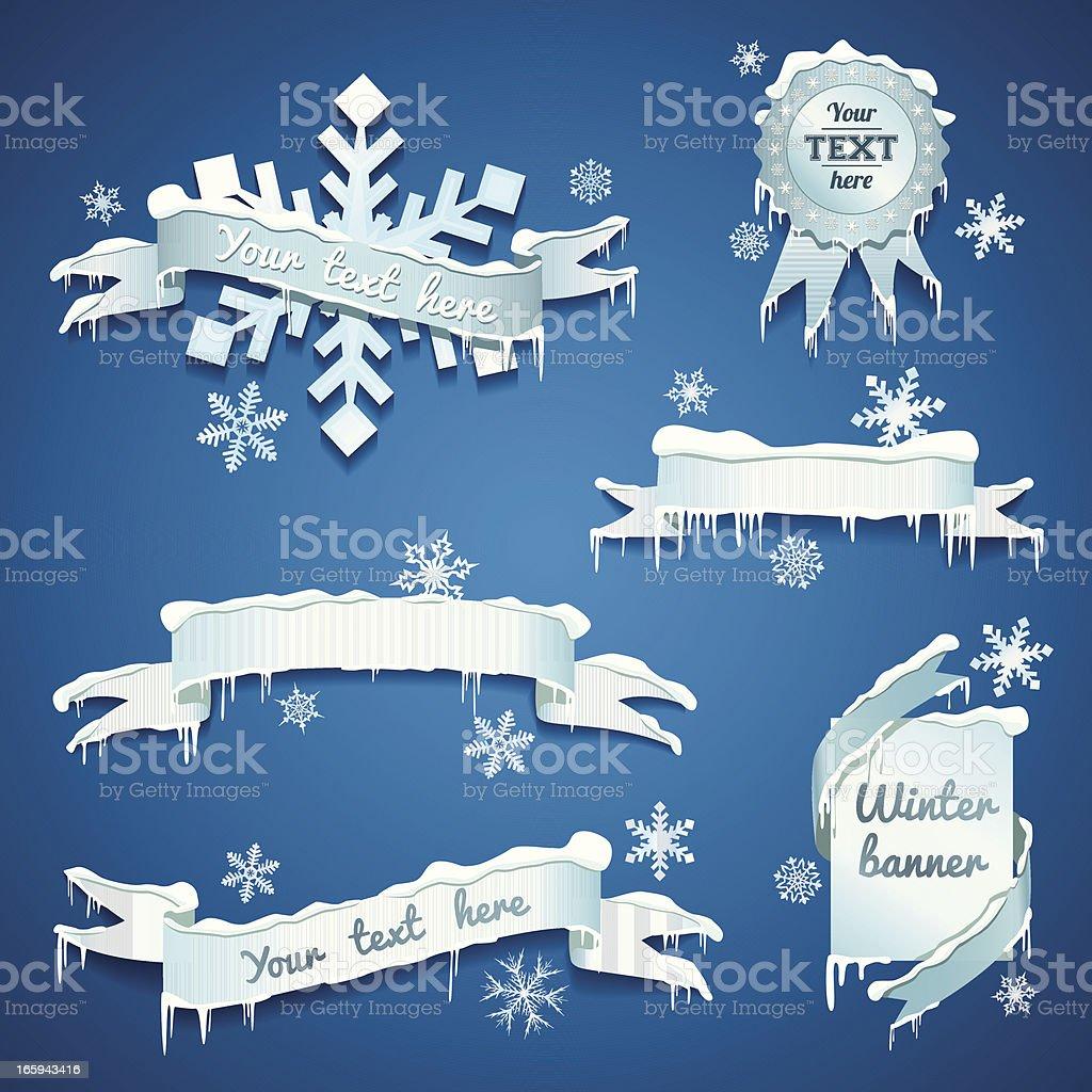Snow/Winter banners vector art illustration
