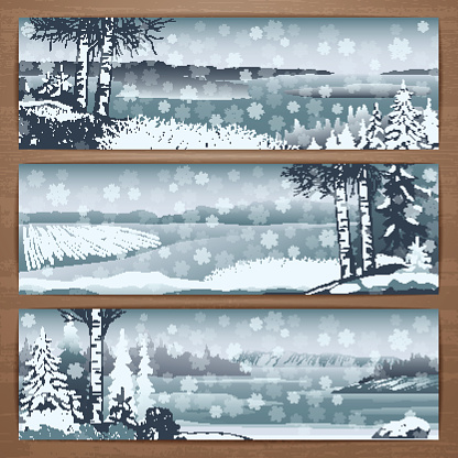 Snowy banners 1