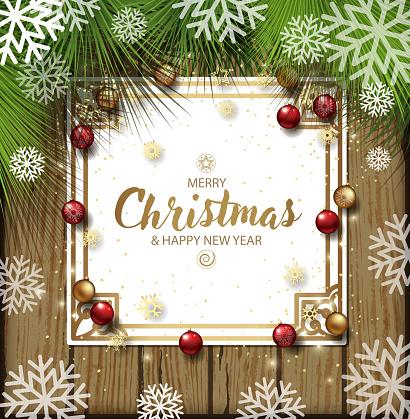 snowy christmas board