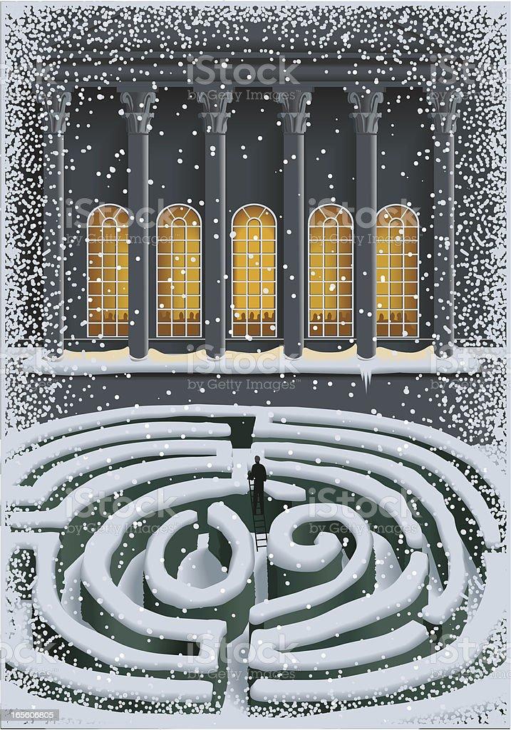 Snowy Labrinyth 2009 vector art illustration