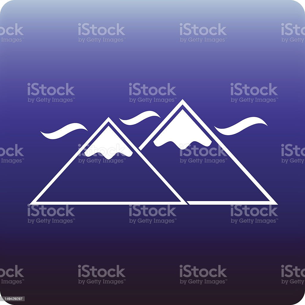 Snowy mountains royalty-free stock vector art