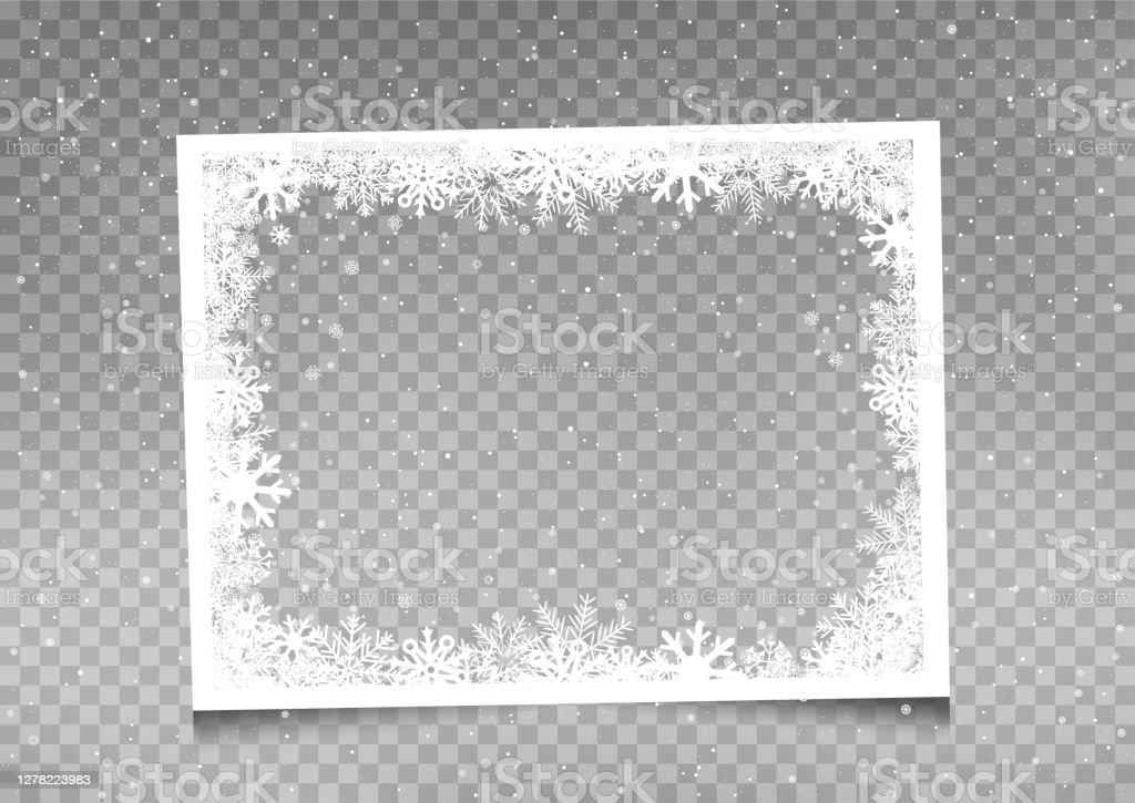 snöig rektangulär rammall - Royaltyfri Affisch vektorgrafik