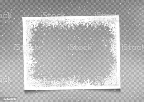 Snöig Rektangulär Rammall-vektorgrafik och fler bilder på Affisch