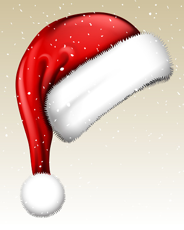snowy santa hat