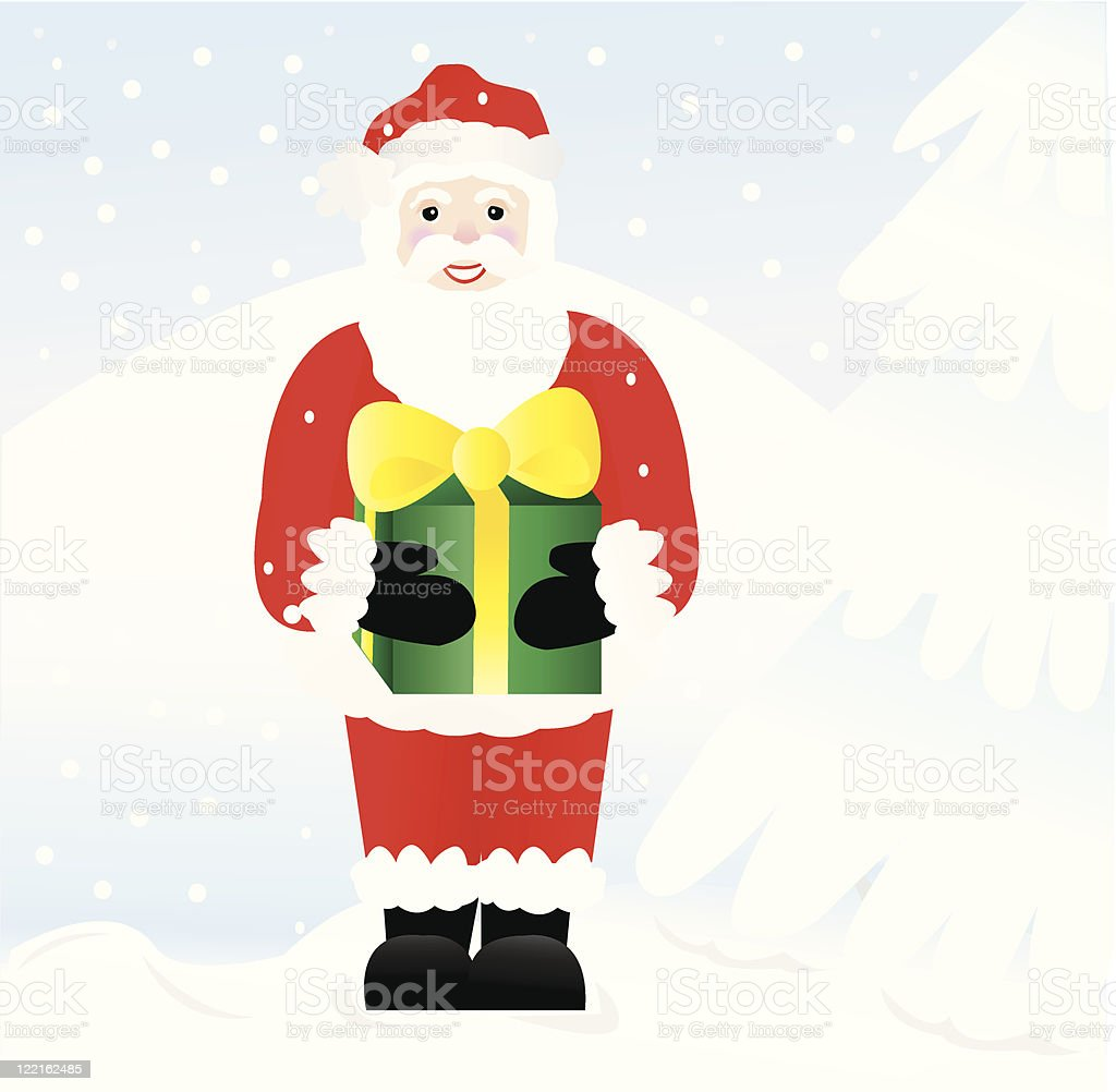 Snowy Santa royalty-free snowy santa stock vector art & more images of blizzard