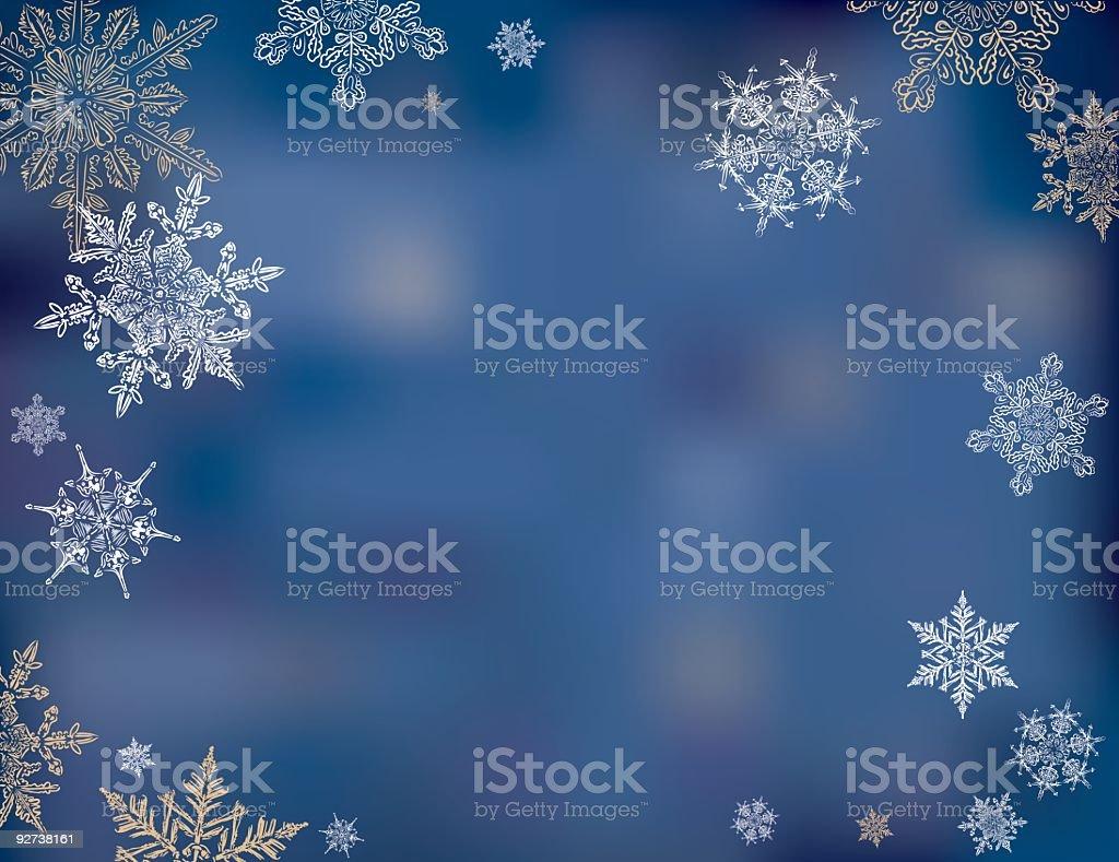 Snowy Sky Background Illustration royalty-free stock vector art