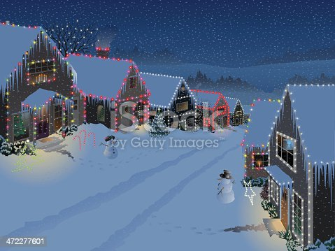 istock Snowy Suburban Christmas 472277601