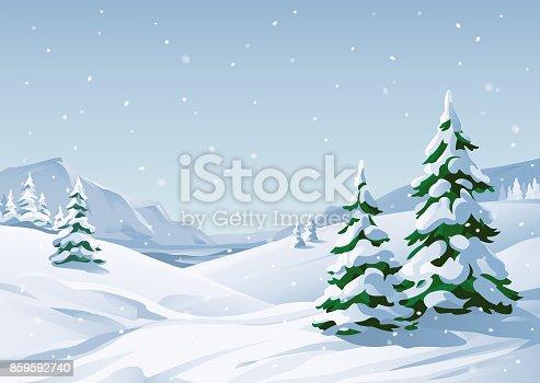 istock Snowy Winter Landscape 859592740