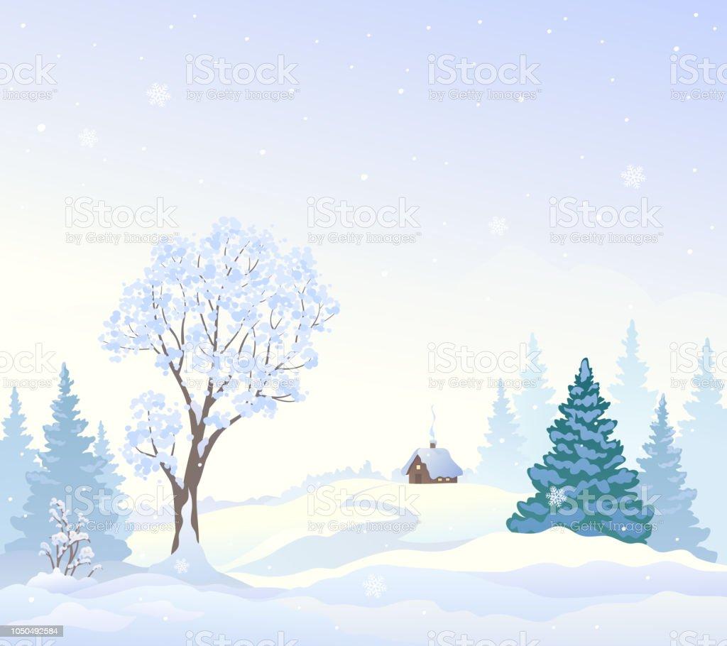 Snowy wonderland background