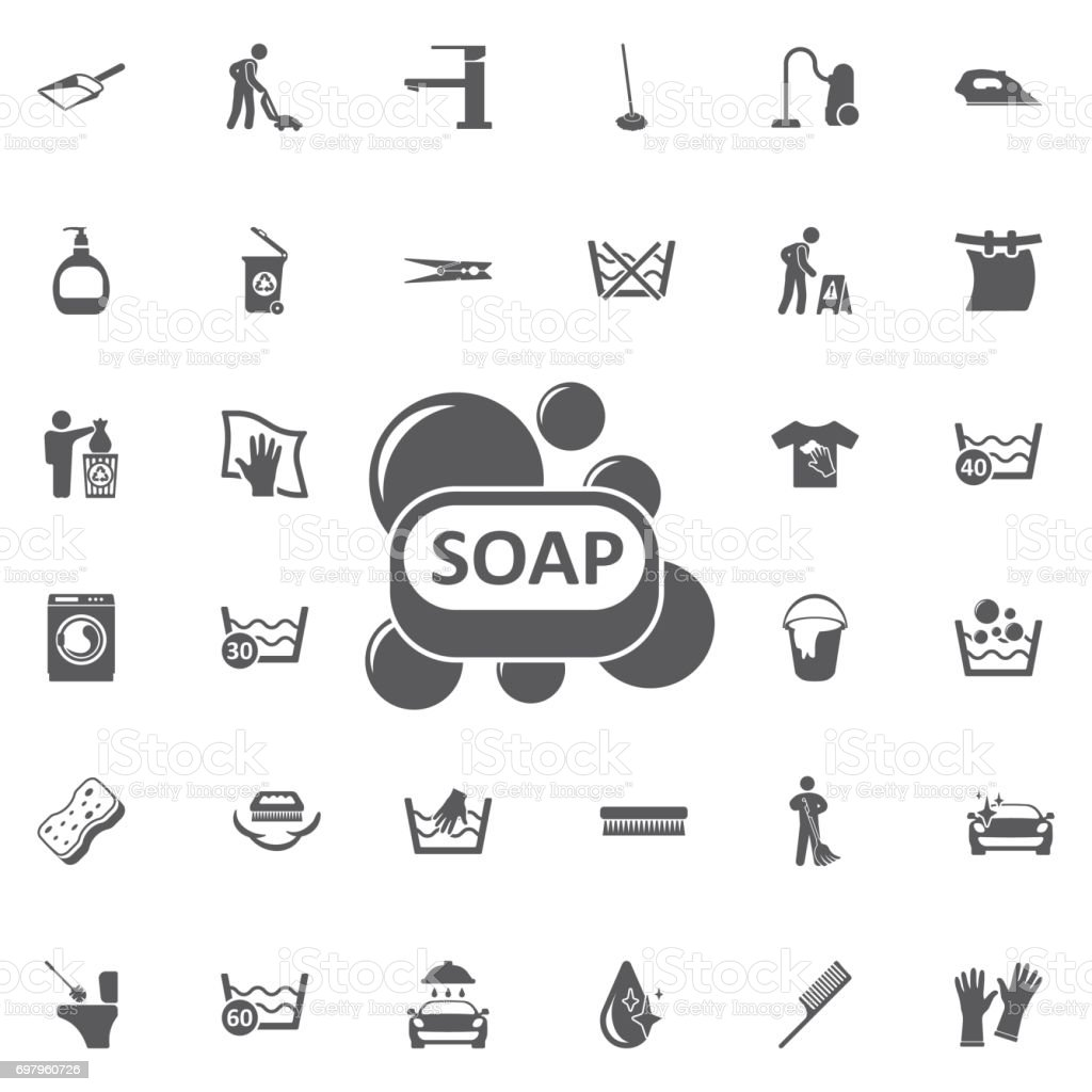 Soap bar icon. vector art illustration