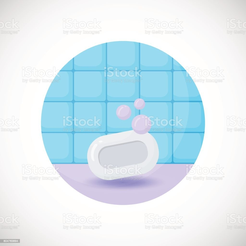 Soap bar vector flat icon vector art illustration