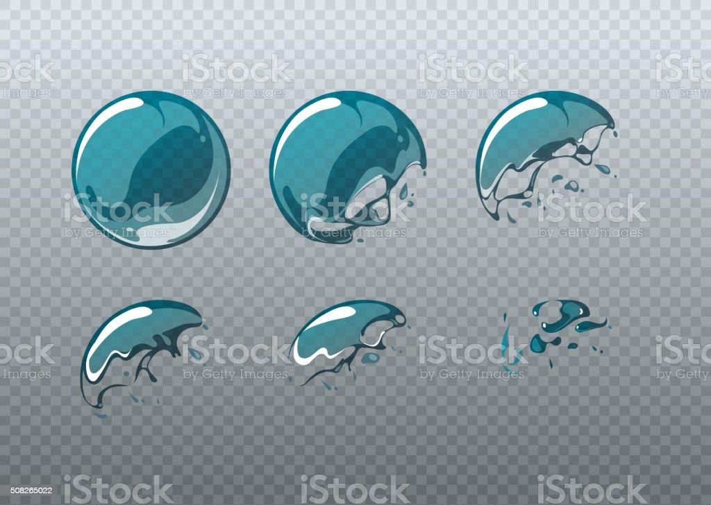 Ilustración de Explosión De Burbujas De Jabón Animación Marcos De ...