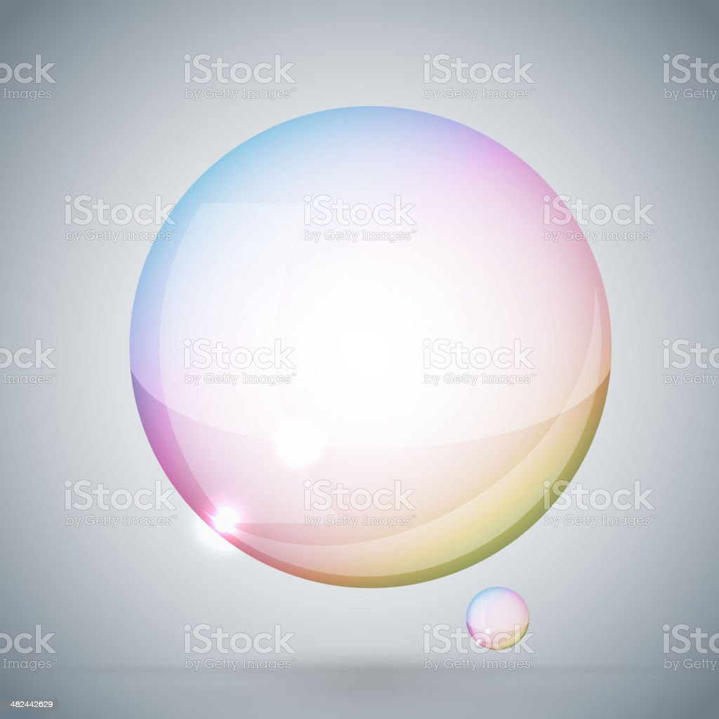 soap bubble on gray background next royalty-free stock vector art