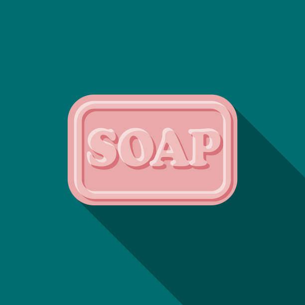 Soap Flat Design Beauty Icon with Side Shadow vector art illustration