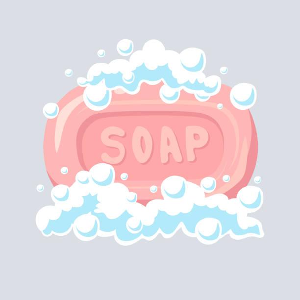 illustrations, cliparts, dessins animés et icônes de icône de plat de savon, bulles de savon, illustration vectorielle. - mousse d'emballage