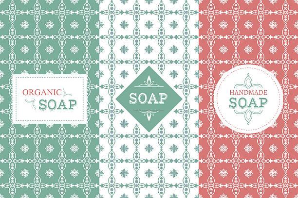 soap package patterns seamless vector - naturseife stock-grafiken, -clipart, -cartoons und -symbole