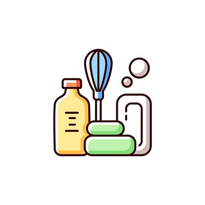 DIY soap RGB color icon