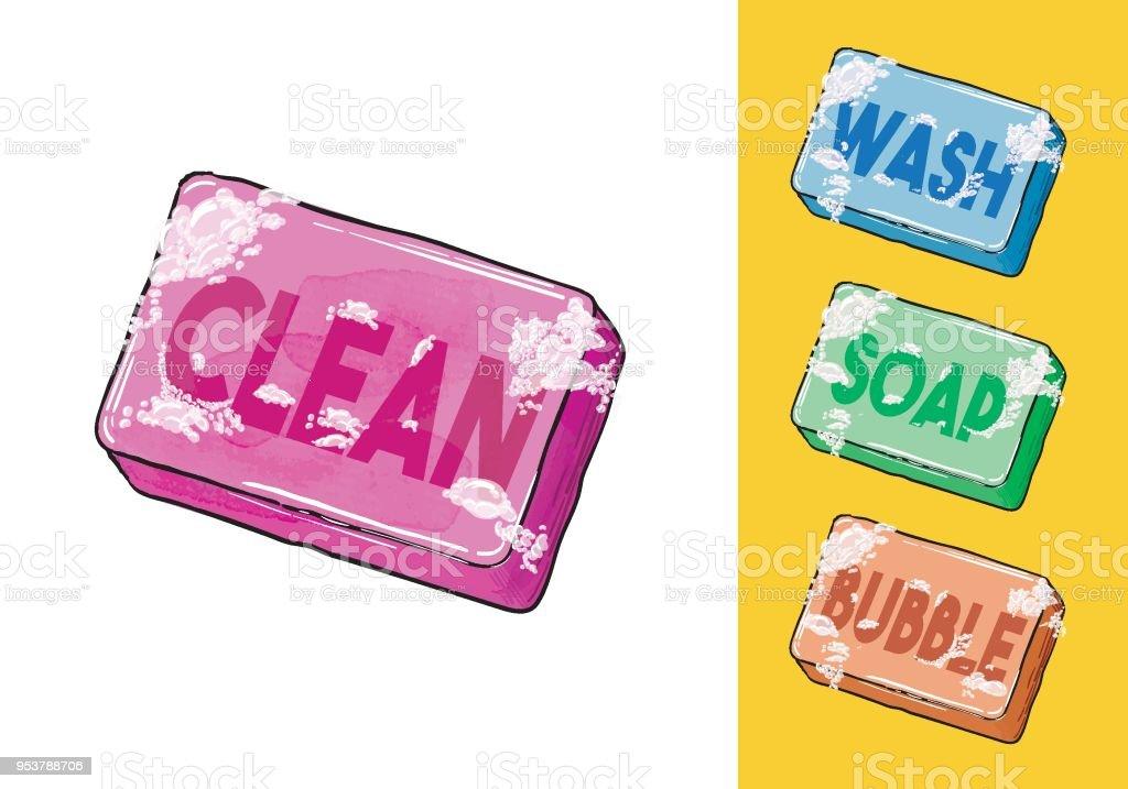 Soap - Vector Illustration vector art illustration