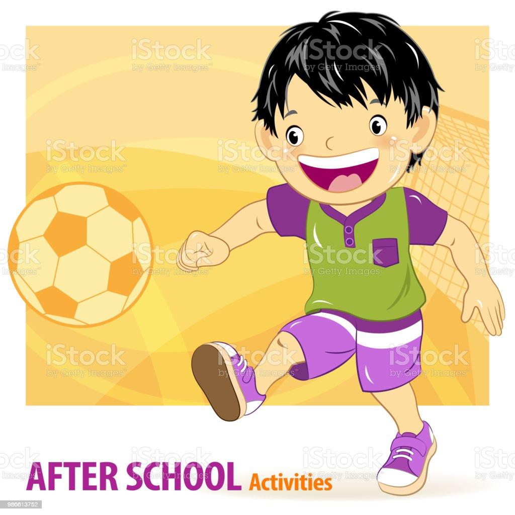 Soccer Activities for Kids vector art illustration