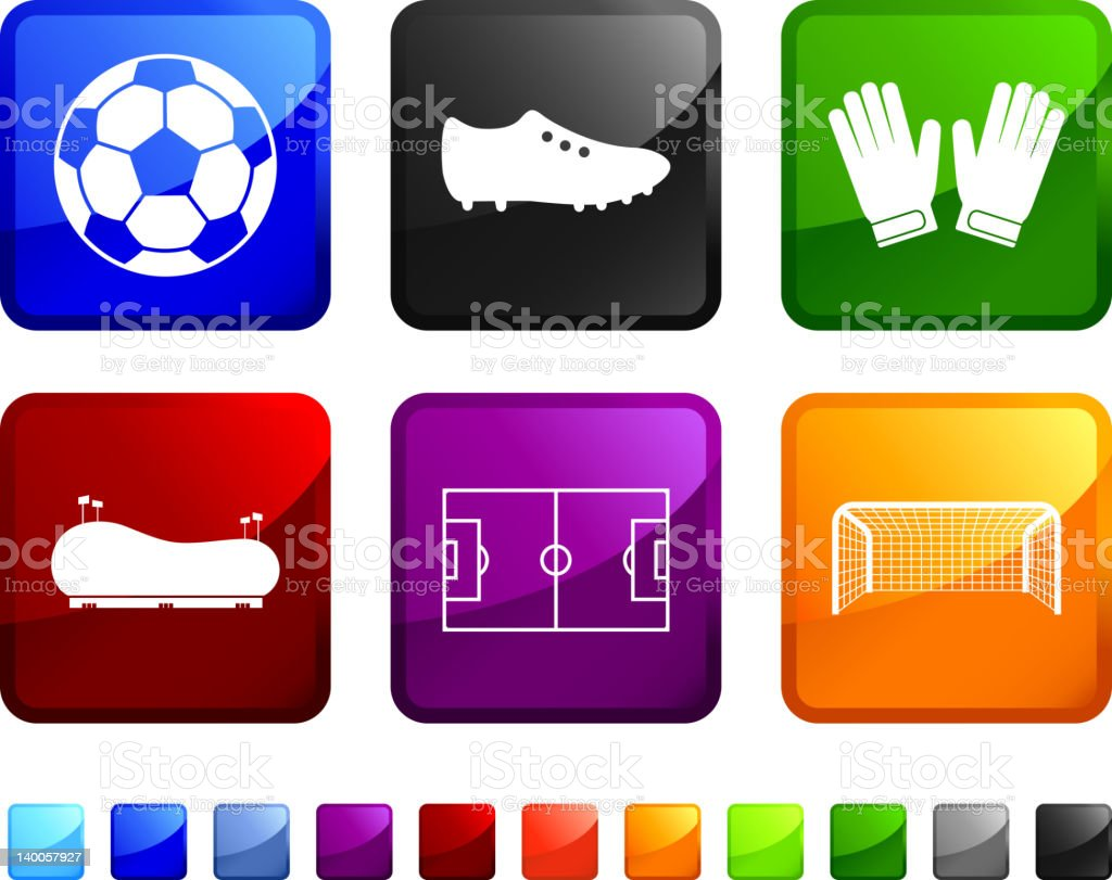 Soccer and Football royalty free vector icon set stickers royalty-free stock vector art