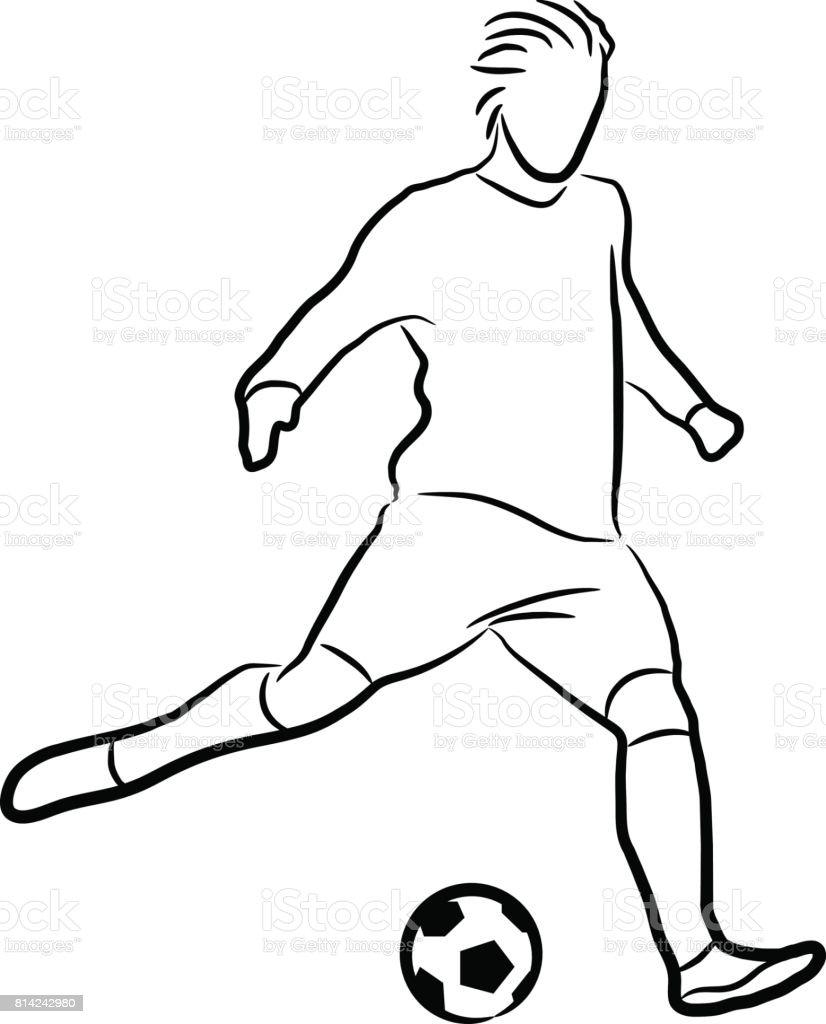 dessin au trait sportif football cliparts vectoriels et plus d 39 images de adulte 814242980 istock. Black Bedroom Furniture Sets. Home Design Ideas