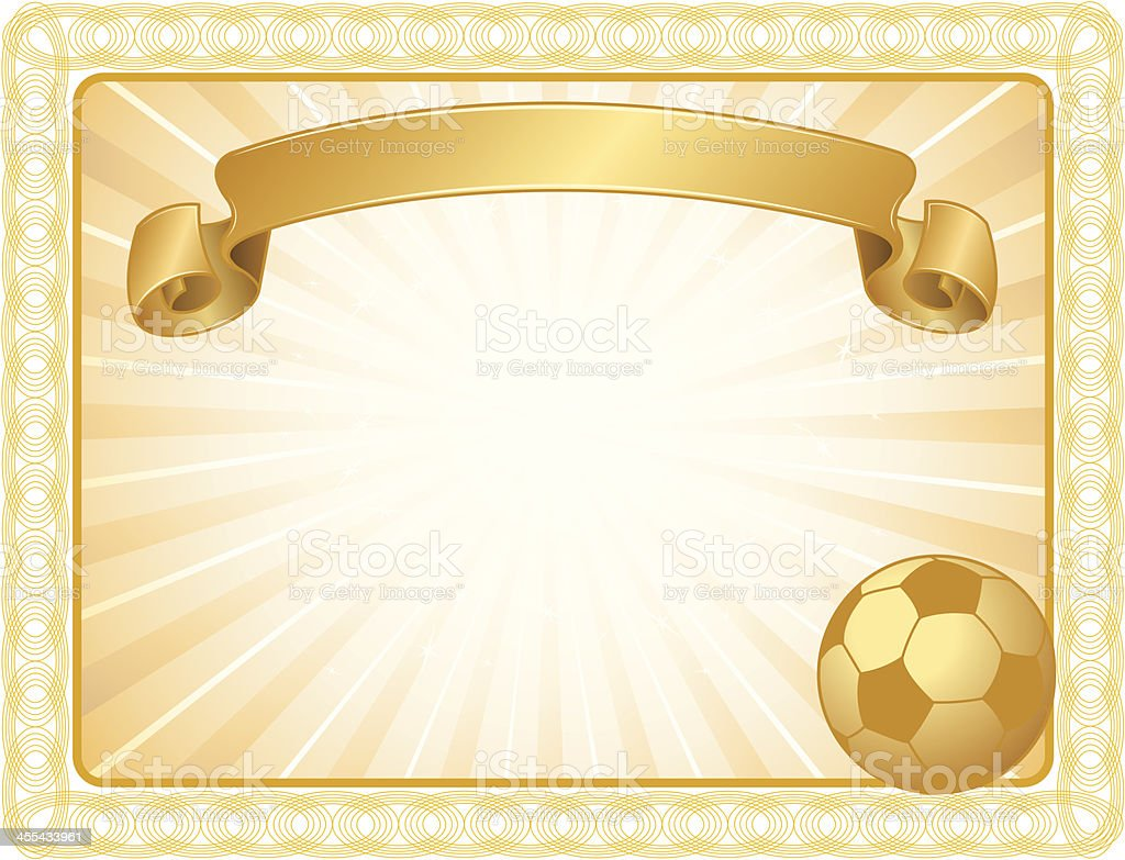 soccer award certificate background stock vector art