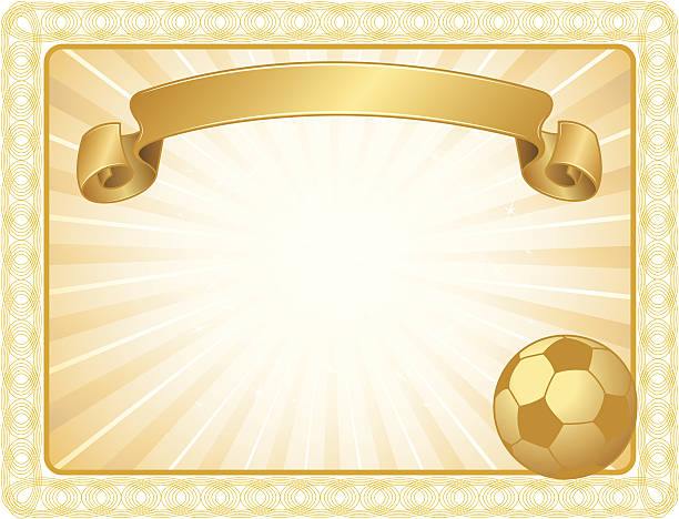 royalty free soccer award certificate clip art vector images