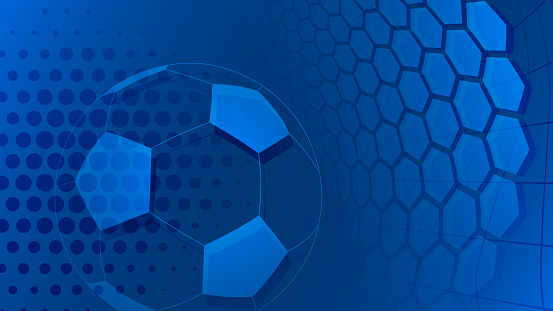 Soccer background in light blue colors