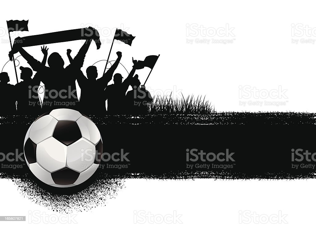 soccer background vector art illustration