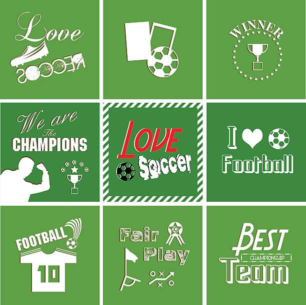 fußball-hintergrund mit typografie schriften, - gerechtigkeitsliga stock-grafiken, -clipart, -cartoons und -symbole
