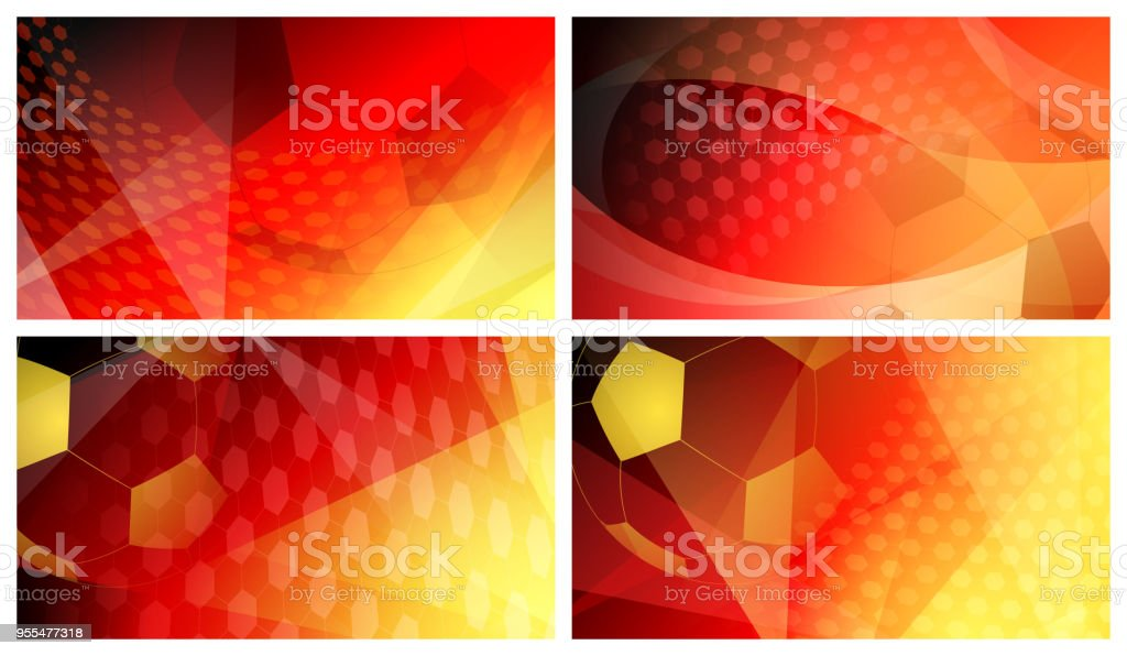 Soccer backgrounds in colors of Germany vector art illustration