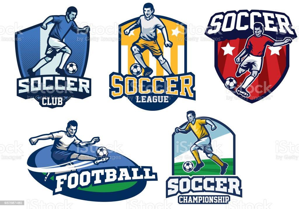 92969775b soccer badge design in set royalty-free soccer badge design in set stock  vector art