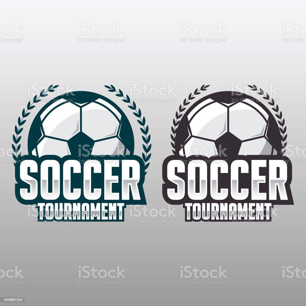 soccer badge football design template stock vector art more images