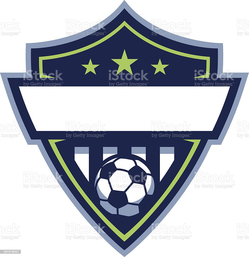 Soccer Badge Logo vector art illustration