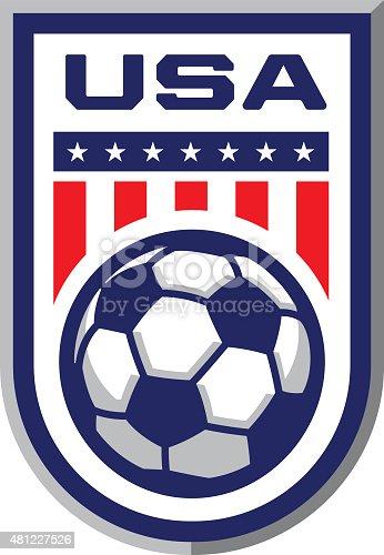 istock USA Soccer Badge 481227526