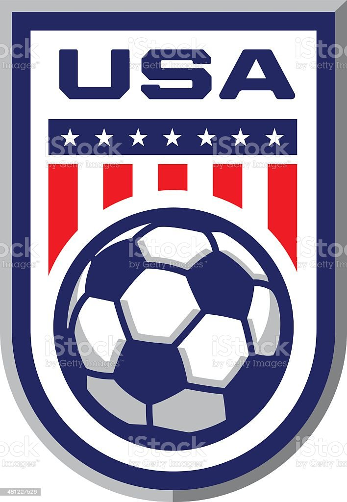 USA Soccer Badge vector art illustration