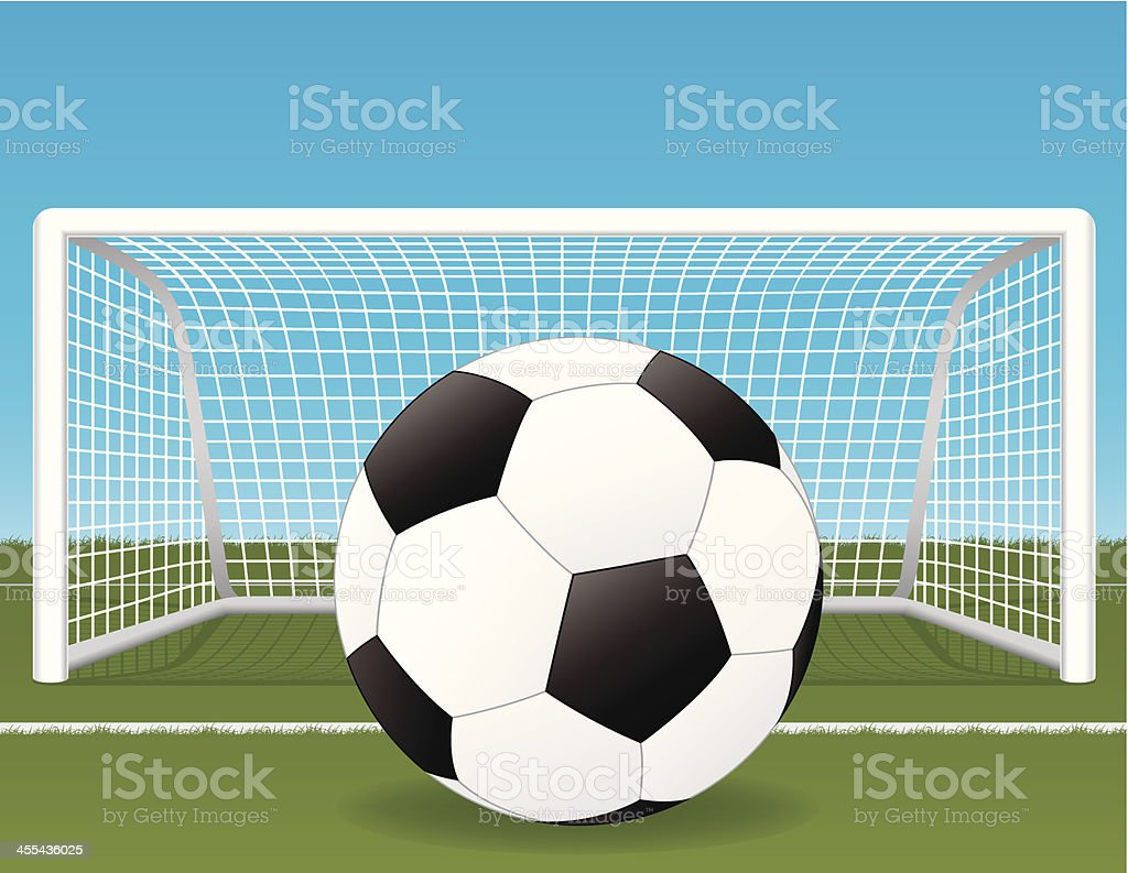 Soccer Ball and Net royalty-free stock vector art