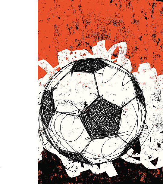 fußball ball hintergrund - fußballkunst stock-grafiken, -clipart, -cartoons und -symbole
