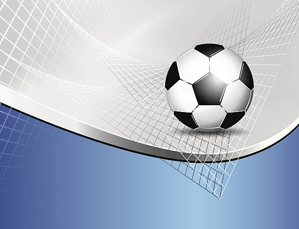 Soccer ball background vector art illustration