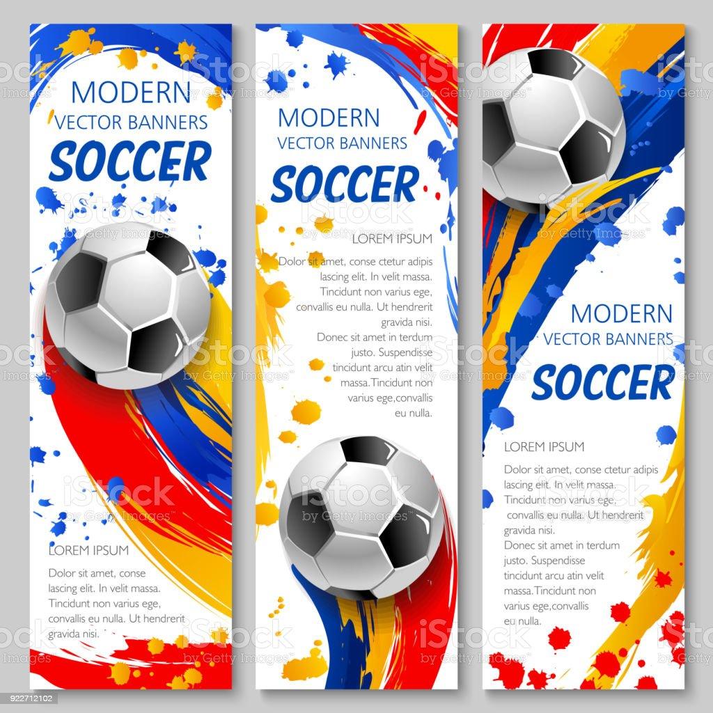 Bandera de pelota de fútbol de plantilla juego de deporte de fútbol  ilustración de bandera de 5595cffc76b1