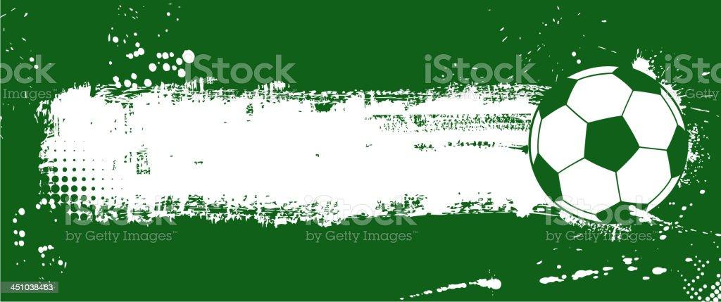 soccer ball banner royalty-free stock vector art