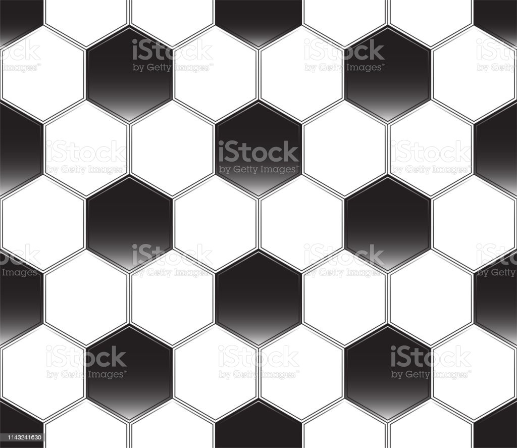 Soccer Ball Black And White Vector Seamless Pattern Football Texture  Backdrop Stock Illustration - Download Image Now - iStock